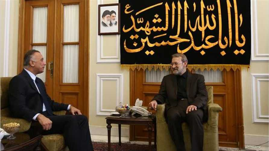 مصطفى الكاظمي خلال لقاء جمعه برئيس البرلمان الايراني في عام 2016/الصورة من وكالة إيسنا الإيرانية