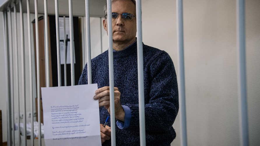 الأميركي بول ويلان في جلسة لمحاكمته في روسيا 24 أكتوبر 2019