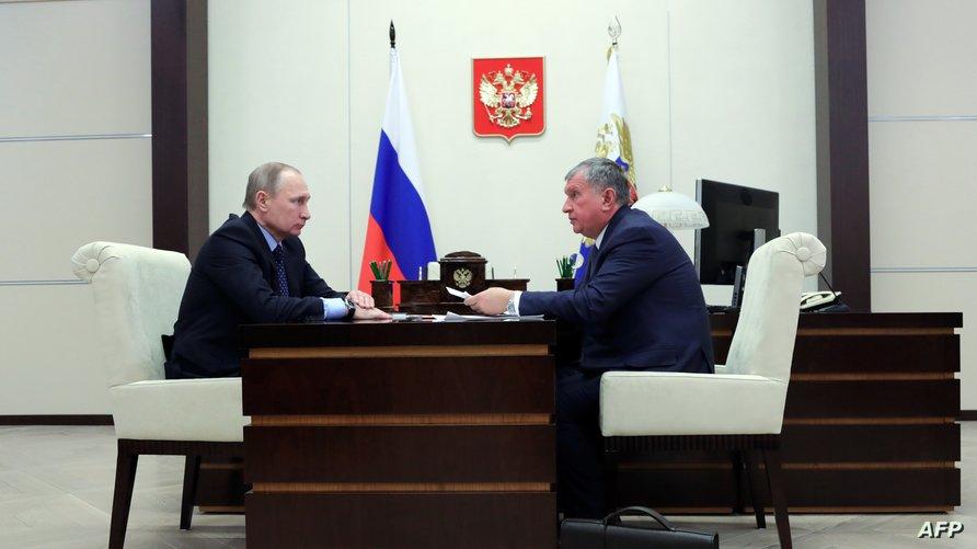 """""""روسنفت"""" يديرها إيغور سيتشين صديق فلاديمير بوتين"""