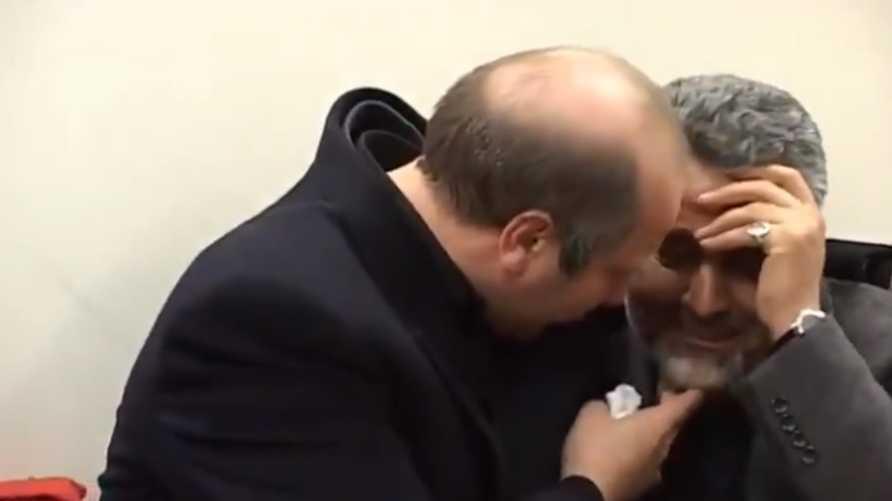 لم يعرف وقت تسجيل الفيديوولا سبب بكاء القائدين في الحرس الثوري