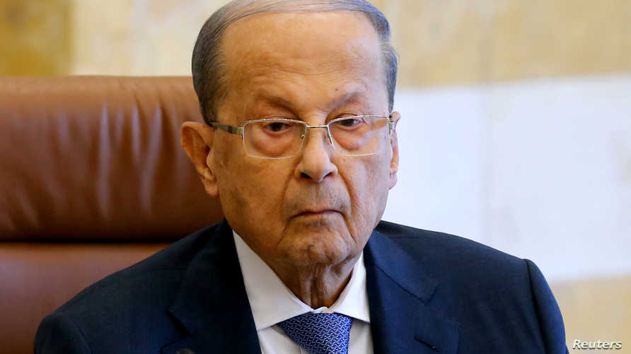Lebanon's President Michel Aoun presides a cabinet session at the Baabda palace, Lebanon October 21, 2019. REUTERS/Mohamed…
