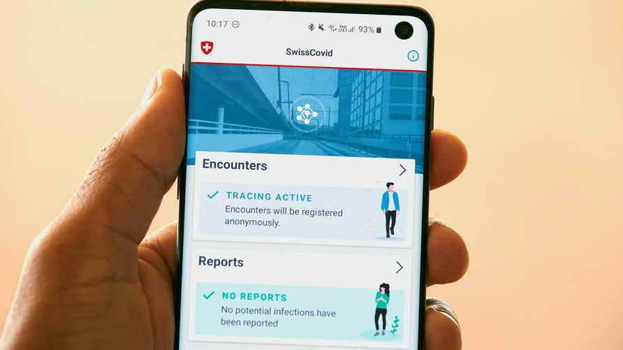 تطبيق إلكتروني لتتبع حالات الإصابة بكورونا في سويسرا