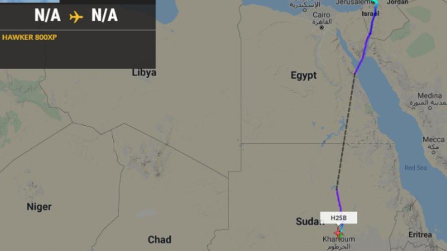 أنباء عن هبوط طائرة إسرائيلية في مطار الخرطوم الدولي- المصدر مواقع التواصل
