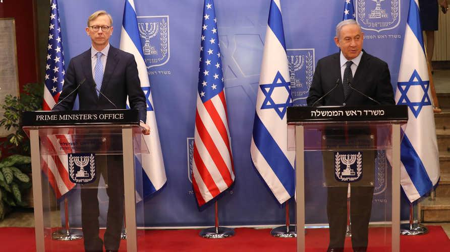 نتنياهو وهوك في المؤتمر الصحفي يحذران من عدم استمرار حظر الأسلحة على غيران