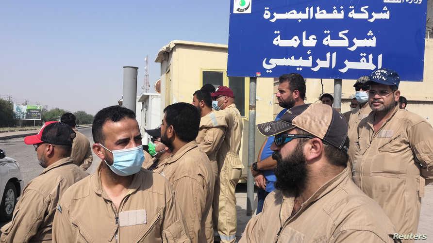 تم تسريح آلاف العمال بقطاع النفط العراقي بعد التراجع في أسعار الخام نتيجة وباء كوفيد-19