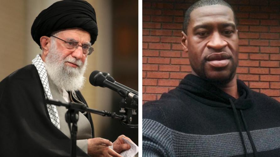 خامنئي يعلق على مقتل جورج فلويد في خطاب له ومغردون إيرانيون يردون عليه بجرائم النظام الإيراني