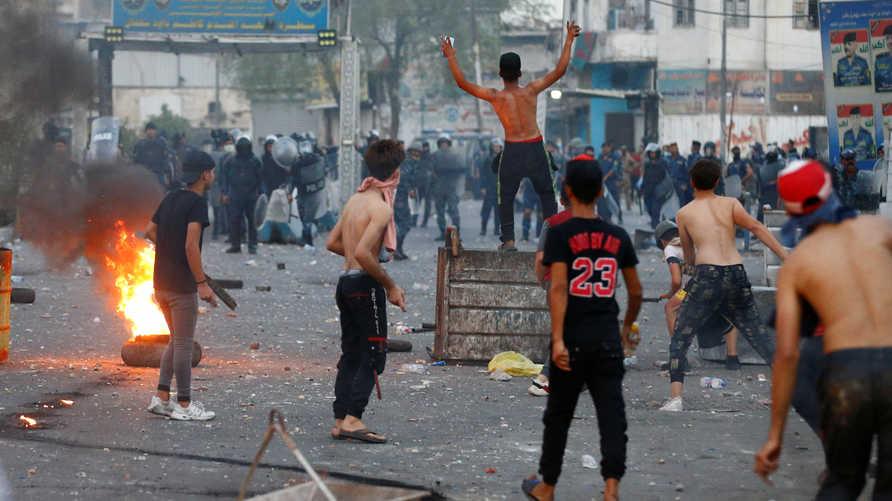 طالبت الداخلية المتظاهرين بالتعاون لحماية الساحة وضبط العناصر