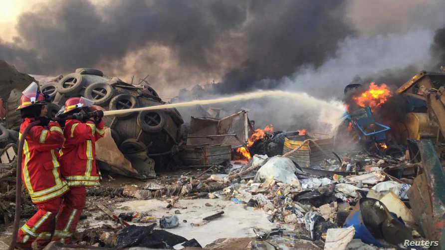 الانفجار في بيروت تسبب بتحطم واجهات زجاجية وانهيار شرفات