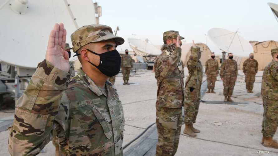 تم إقامة حفل في قطر لتعيين أفراد الدفعة الجديدة