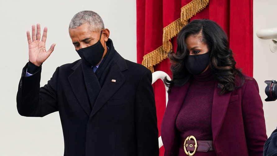 حرص الرئيس أوباما على تحية أغلب الحضور