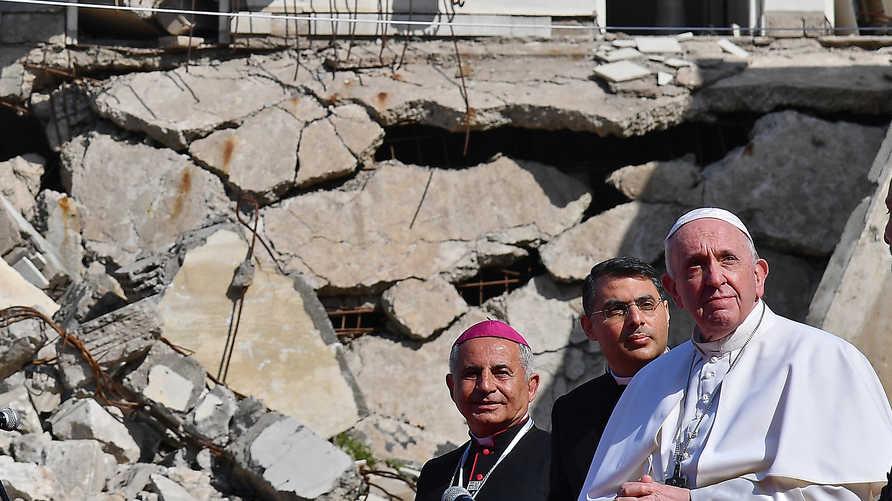 البابا زار عدة أماكن ذات قيمة رمزية وتاريخية في العراق