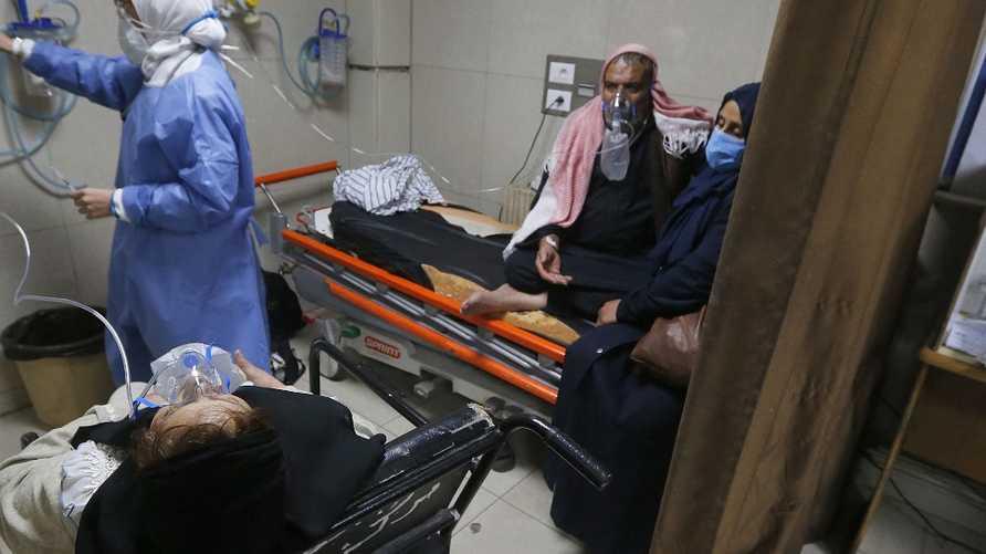 مستشفيات دمشق تكتظ بمرضى كورونا