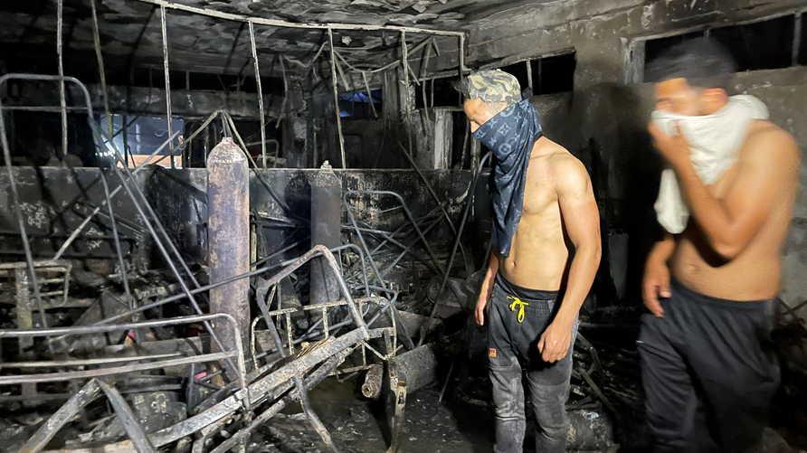 الحريق أدى إلى مقتل العشرات وإصابة آخرين