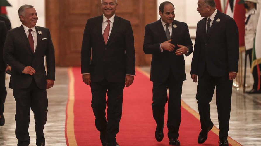 Egyptian President Abdel Fattah El-Sisi and Jordanian King Abdullah II confirmed their attendance.. File photo