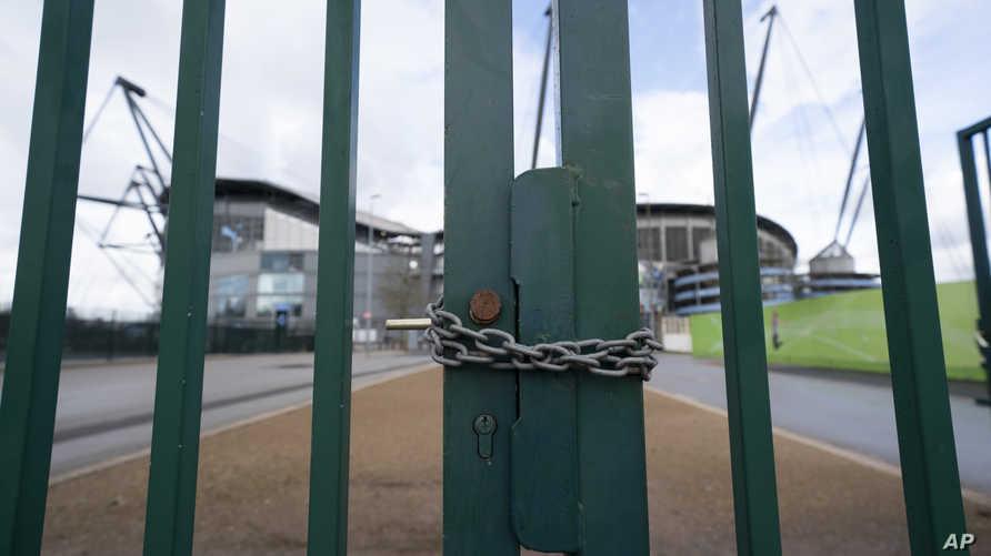 تم اغلاق ملعب الاتحاد التابع لنادي مانشستر سيتي منذ قرار تعليق الدوري الانكليزي الممتاز في التاسع من مارس بسبب انتشار فيروس كورونا المستجد
