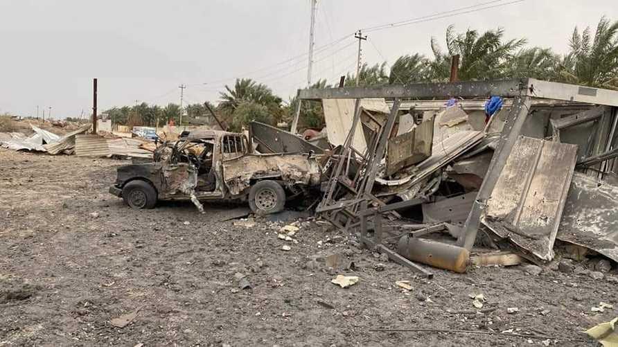 آثار للضربات الأميركية على مواقع تستخدمها ميليشيا كتائب حزب الله في العراق