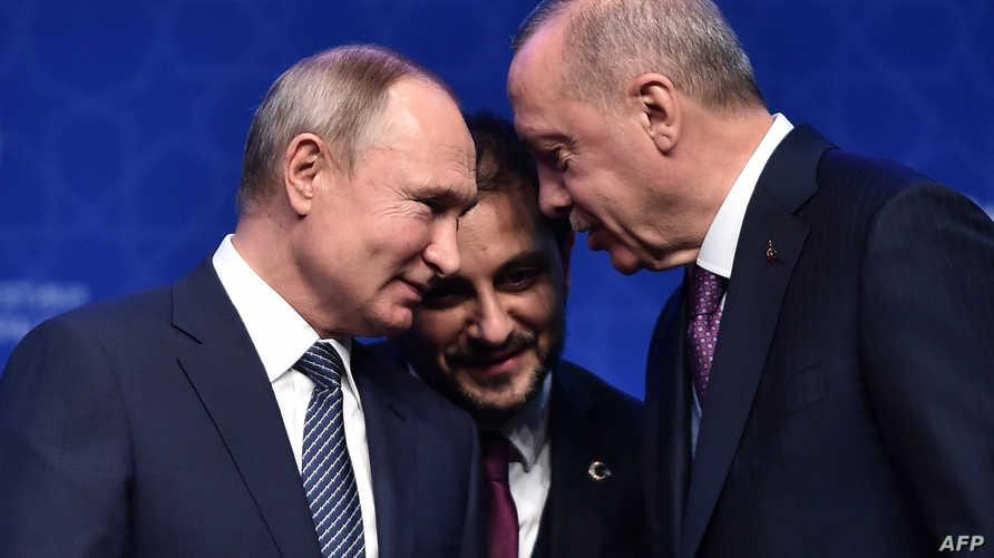 الرئيس التركي رجب طيب إردوغان ونظيره الروسي فلاديمير بوتين