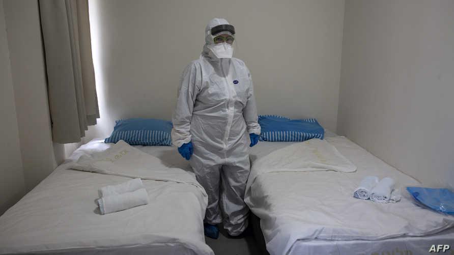 مستشفى في إسرائيل حيث يتم عزل المصابين بفيروس كورونا