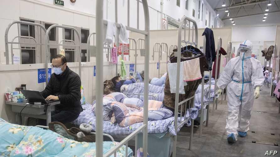 من داخل إحدى المستشفيات بمدينة ووهان الصينية - 17 فبراير 2020