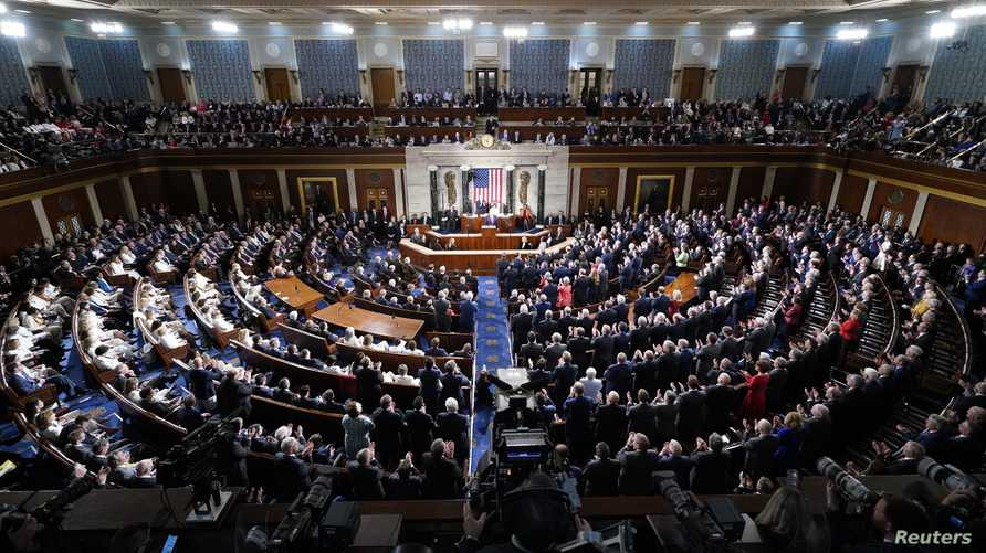 U.S. President Donald Trump delivers the State of the Union address to a joint session of the U.S. Congress in the House…
