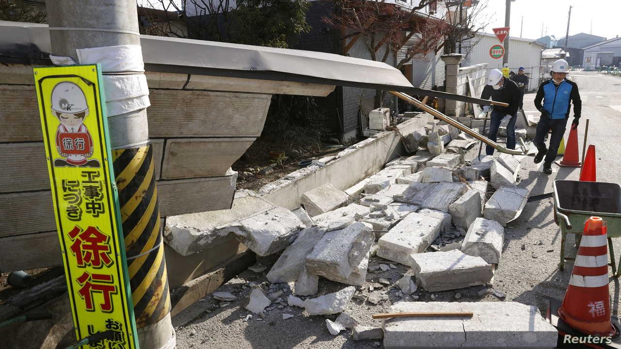 صور تظهر حجم الدمار الذي ألحقه زلزال في اليابان الحرة