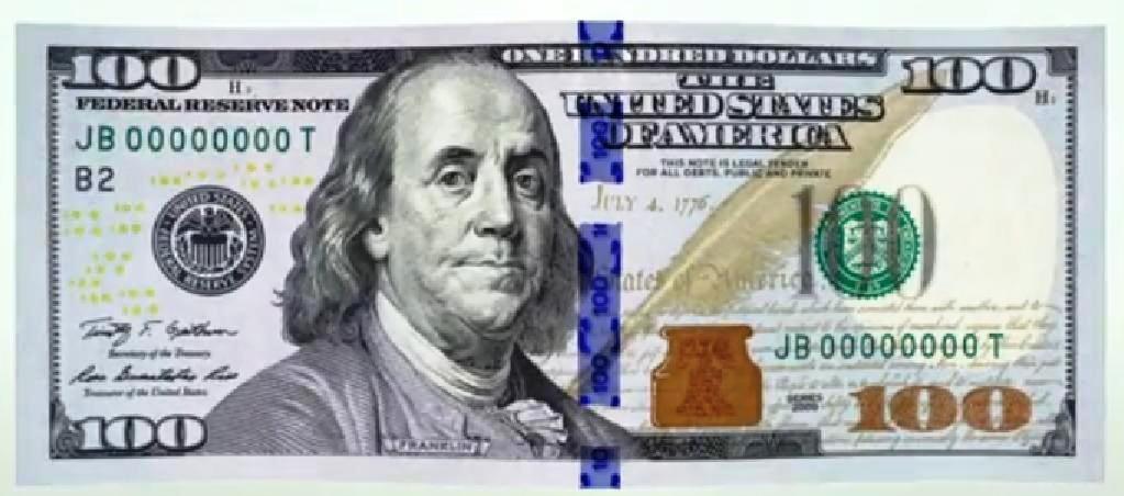 في أميركا ورقة مالية من فئة 100 دولار جديدة وذكية الحرة