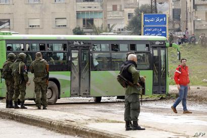 قوات روسية وسورية في حمص