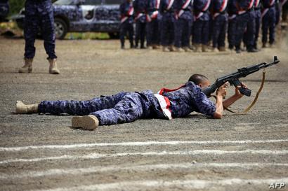 قوات يمنية خلال تدريبات عسكرية-تعز