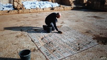 الكنيسة استخدمها الحجاج البيزنطيون الذين جاؤوا الى الأراضي المقدسة