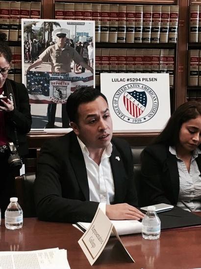 فارغاس يناقش أولولية قضايا المهاجرين في عهد الرئيس ترامب _الصورة من صفحته الشخصية