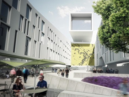 صورة تخيلية لتصميم مشروع مجمع السفارة الجديد