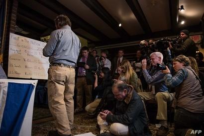 صحافيون أميركيون ودوليون يغطون فرز الأصوات في المدينة الأميركية