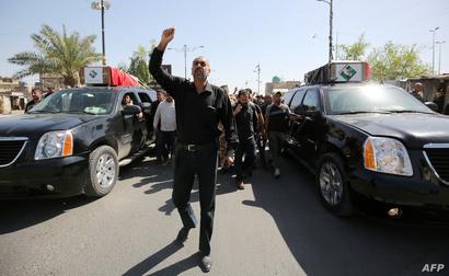 مظاهرات لمؤيدي مقتدى الصدر في 21 أيار/مايو في العاصمة بغداد