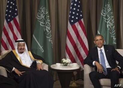الرئيس باراك أوباما مع العاهل السعودي الملك سلمان بن عبد العزيز.