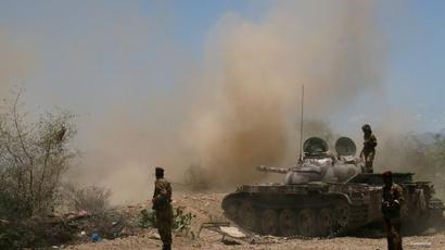 الجيش اليمني خلال مواجهات بجنوب اليمن