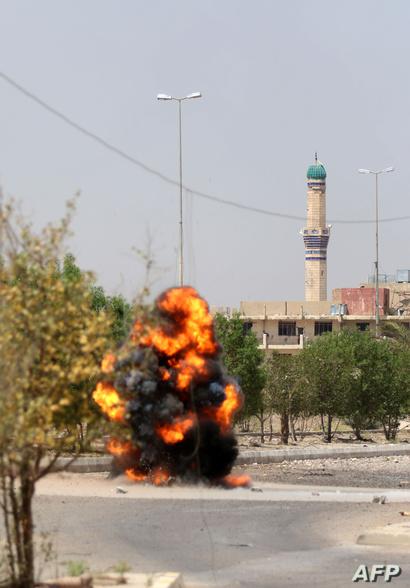 القوات العراقية تفجر لغما زرعه عناصر داعش في الفلوجة