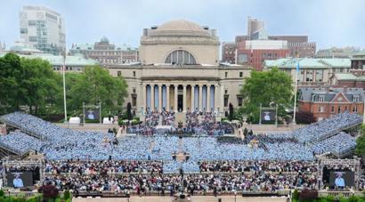 جامعة كولومبيا الأميركية في صورة مأخوذة من الحساب الرسمي على موقع فيسبوك