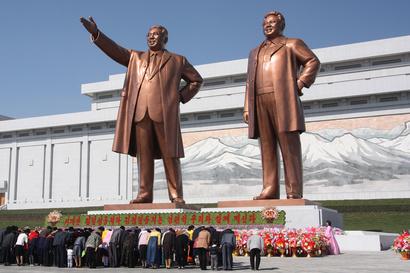 تمثال في العاصمة بيونغ يانغ