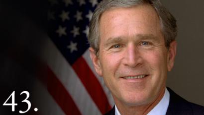 الرئيس الـ43 للولايات المتحدة جورج دبليو بوش