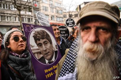 تظاهرة تحيي ذكرى هرانت في إسطنبول - 19 يناير 2019