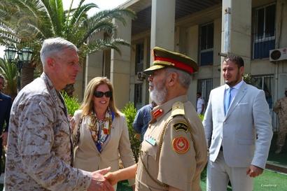 جانب من اجتماع الوفد الأميركي مع حكومة الوفاق الوطني بطرابلس