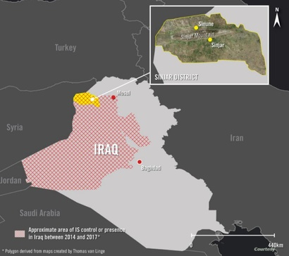 منطقة سنجار شمال العراق التي تعرضت الزراعة فيها لتدمير ممنهج ومتعمد من قبل تنظيم داعش_ الصورة من منظمة أمنستي