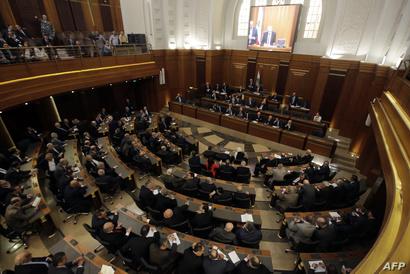 جانب من إحدى جلسات البرلمان اللبناني