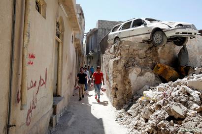 الدمار يحاصر أحياء وأزقة الموصل