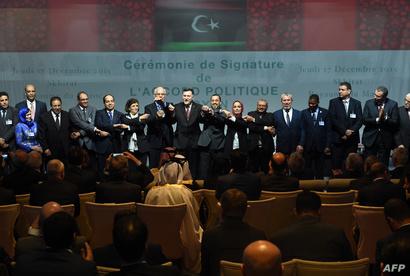 أطراف النزاع الليبي عقب توقيع اتفاق السلام في الصخيرات