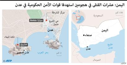 عشرات القتلي في جنوب اليمن في هجمات استهدفت قوات الحزام الأمني المدعومة من الإمارات