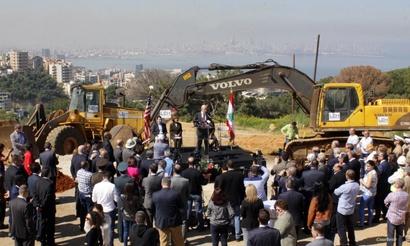 احتفال بوضع الحجر الأساس لمبنى السفارة الجديد