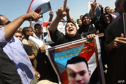 من ذوي قتلى التظاهرات