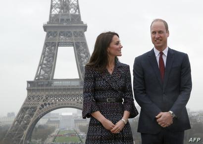 الأمير وليام وزوجته كايت في باريس