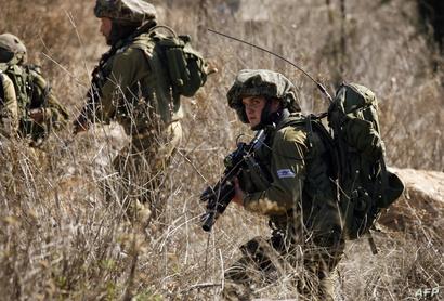 عناصر من الجيش الإسرائيلي عند الحدود اللبنانية. أرشيف